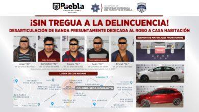 detenidos, banda delictiva, robo a casa habitación, droga, cerveza, líder, Ministerio Público, FGE, SSC, Código Rojo