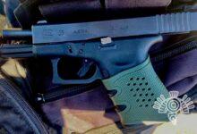 Policía Estatal, Guardia Nacional, arma de fuego, portación ilegal, operativo, documento, autoridades ministeriales¸