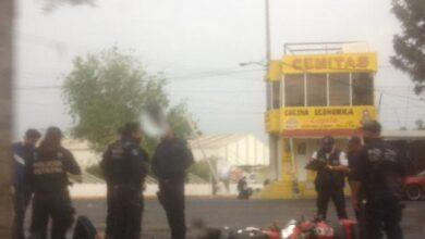 Elemento, SSP, motociclista, choque, camioneta, fractura, fémur, ISSSTEP, Código Rojo, San Pablo Xochimehuacan, Nota Roja, Puebla, Noticias
