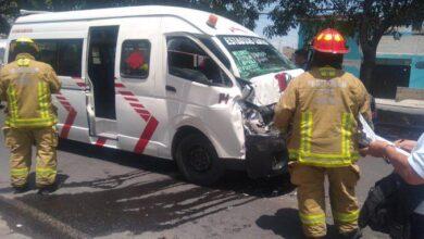 choque, vial, camioneta, repartidora, gas, combi, lesionados, Protección Civil, Código Rojo, Nota Roja, Puebla, Noticias