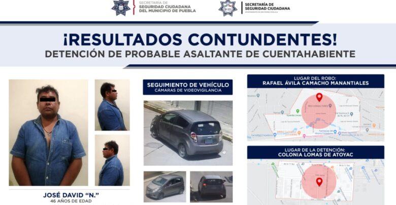detenido, robo, cuentahabiente, SSC, Lomas de Atoyac, Código Rojo, Nota Roja