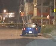 Ejecutado, automovilista, Tres Cruces, balacera, proyectil de arma de fuego, occsio, Chevy, robo, balazo en la frente