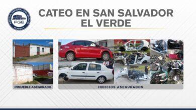 San Salvador El Verde, cateo, inmueble, autopartes, robadas, reporte, FGE, Código Rojo