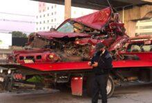 grúa, remoción, camioneta, trabajador, embestido, tráiler, autopista México-¨Puebla, puente, La María, Código Rojo, Nota Roja