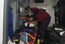 mujer, lesionada, ciclovía, Periférico Ecológico, caída, ejercicio, ambulancia, traslado, Código Rojo