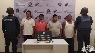 delitos contra la salud, robo, portación de instrumentos prohibidos, Caltepec, taxi, SSC, BANDA, asaltantes