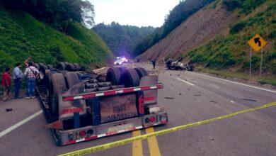 Circulación, autopista México- Tuxpan, accidente, frenos, tráiler, vialidad, Huauchinango,