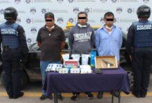 detenidos, robo, transporte, abarrotes, San Bartolo, tres, sujetos, FGE, SSC, Código Rojo, Nota Roja, Puebla, Noticias