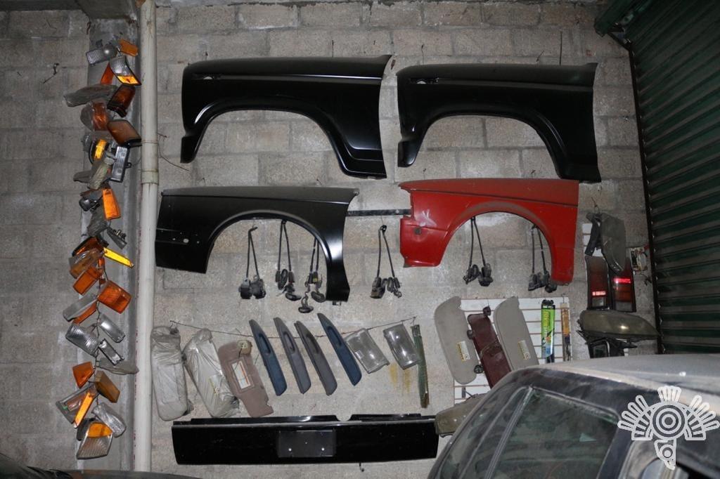 operativo, SSP, autopartes robadas, El Diablo, El Chupón, droga, Código Rojo