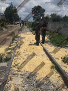 vandalismo, tolvas, robo, granos, San Pablo Xochimehuacan, Guardia Nacional, Policía Auxiliar, Código Rojo, Nota Roja