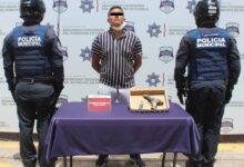detenido, SSC, portación ilegal de arma de fuego, SSC, elementos, Barrio de Los Remedios, robo, transeúnte, Centro Histórico, antecedentes penales, Código Rojo