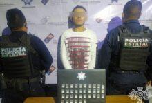 """Policía Estatal, narcomenudista, Tepexi de Rodríguez, droga, """"Juanísimo"""", """"Flash"""", polvo blanco, cocaína"""