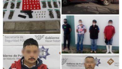tepeaca, distintas acciones, armas de fuego, pipa de gas, ilegal, trasiego, combustible, sin permisos, operativo, código rojo
