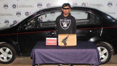 SSC, robo, vehículo, registros penales, pistola, arma de fuego, Fiscalía General del Estado