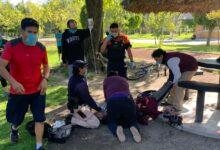 parque del arte, ejercicio, rutina, código rojo, muerto, ambulancia, suma, fge, protección civil