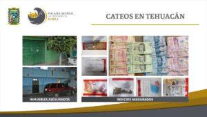 cateos, tehuacán, detenidos, drogas, documentos, dinero en efectivo, código rojo, fge