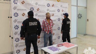 drogas, venta, Tepeaca, detenido, cristal, código rojo