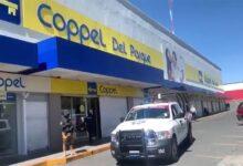 Clientes, robo, teléfonos celulares, Coppel, vitrina, establecimiento, uniformados, municipales, estatales