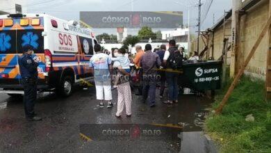 Albañil, San José Xilotzingo, exposición de órganos, influjos del alcohol, abdomen, caída, Cruz Roja, ambulancia