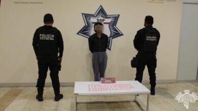 """Policía Estatal, narcomenudista, colonia Constitución Mexicana, cristal, droga, SSP, """"Los Reyes del Sur"""""""