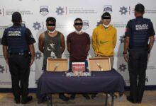 robo, gasolinera, tres, detenidos, código rojo