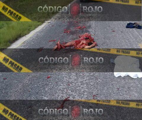noaplucan, atropellado, despedazado, cadáver, hombre, camiones de carga, código rojo