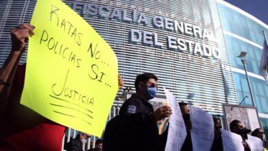 policías municipales, manifestación, fge, instalaciones, liberación, centro de justicia penal, código rojo