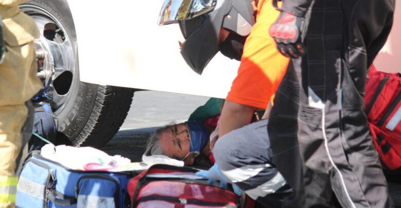Camión, Mujer, atropellada, Secretaría de Infraestructura y Servicios Públicos, ruta 76, SUMA, ambulancia, Protección Civil
