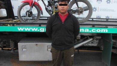 la guadalupana, detenido, motocicleta, sin placas, reporte, robo, código rojo