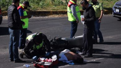 recta a cholula, motociclista, embestido, lesiones, código rojo