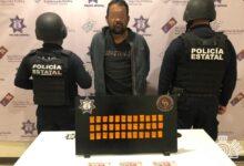 narcomenudista, droga, cristal, venta, policía estatal, coxcatlán, código rojo