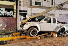 poste, concreto, choque, camioneta, bulevar atlixco, código rojo