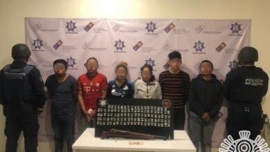presuntos integrantes, policía estatal, los pollos, robo, casa habitación, narcomenudeo, código rojo