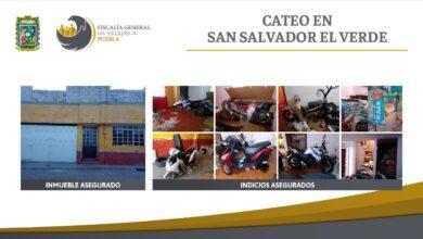 motocicletas, robadas, mercancía, inmueble, fge, cateo, código rojo
