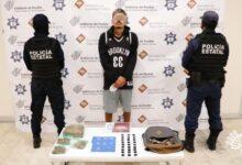 presunto narcomenudista, detenido, el pelón, miembro, banda delictiva, código rojo