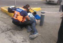 Accidente, Atlixcayotl, amputan, pie, Policía federal, Vía Atlixcayotl, CHOQUE, Protección Civil, Grupo Relámpagos, Hospital del ISSSTE, motociclista