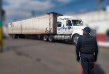"""SSC, San Martín Texmelucan, Ministerio Público, GPS leyenda """"Fletes de México"""", tracto camión, robo, violencia"""