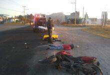motocicleta, dos, phombre, mujer, pareja, muerto, lesionada, traslado, hospital, código rojo