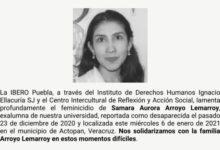 Samara Arroyo Lemarroy, hallada, muerta, padres, entrenador, sospechoso, detenido, actopan, veracruz, universidad iberoamericana, código rojo