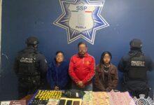 posesión, drogas, san pedo cholula, detenidos, extorsión, secuestro, narcomenudeo, código rojo