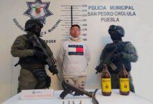 padre, ssc, san pedro cholula, policía municipal, cremación, captura, arma de fuego, código rojo