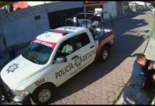 Colonia Casa Blanca, video, SSP, Investigaciones Internas, Amozoc, patrulla, redes sociales,