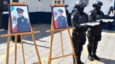 SSC, homenaje, policías, Lesly Yoryeth Lima Espidio, Víctor Adrián Torres Juárez, familiares, compañeros de trabajo, personal administrativo, ROCAS, UTR