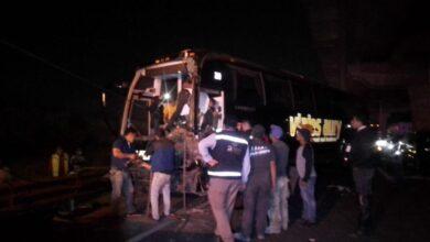 carambola, autobús turístico, chofer, imprudente, choque, alcance, vehículos, particulares, lesionados, autopista méxico-puebla, código rojo