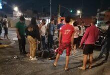 Motociclista, San José Mayorazgo, choque, lesiones, hospital privado, barrio de Santiago, 911, vehículo
