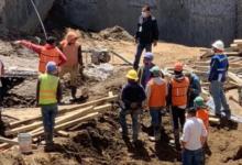 Derrumbe, San Martín Texmelucan, trabajadores, obras, 911, paramédicos, Cruz Roja,