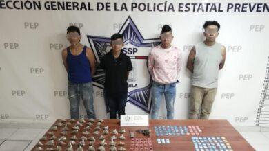 balcones del sur, pelón del sur, cuatro, detenidos, narcomenudistas, drogas, código rojo