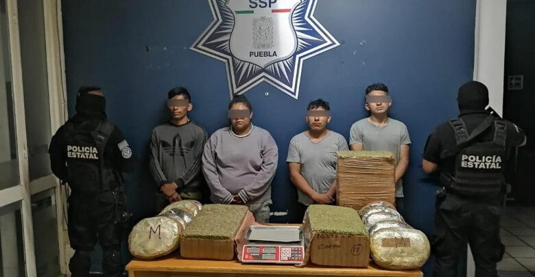 marihuana, ssp, cuatro, detenidos, aseguramiento, michoacán, código rojo