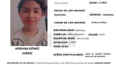 Alerta Amber, menor de edad, Fiscalía General del Estado, ciudad de Puebla, CENTRO, Delitos de Desaparición Forzada de Personas y Desaparición Cometida por Particulare
