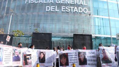 colectivo de personas desaparecidas, protesta, fge, instalaciones, exigencia, ley, aprobación, código rojo